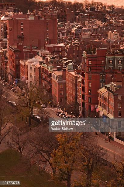 Beacon Street at dusk, Boston, Massachusetts, USA