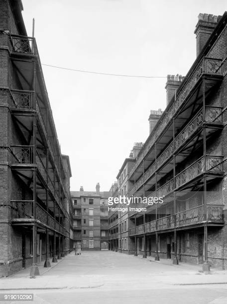 Beaconsfield Buildings Randells Road Islington London 1969 A view through the courtyard of the flats immediately west of Gifford Street just prior to...