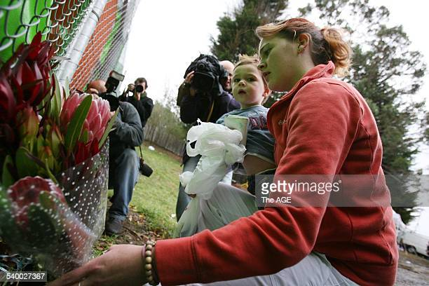 Beaconsfield Mine 2006 A woman lays flowers at the Beaconsfield Mine where two miners Brant Webb and Todd Russell have been trapped nearly one...