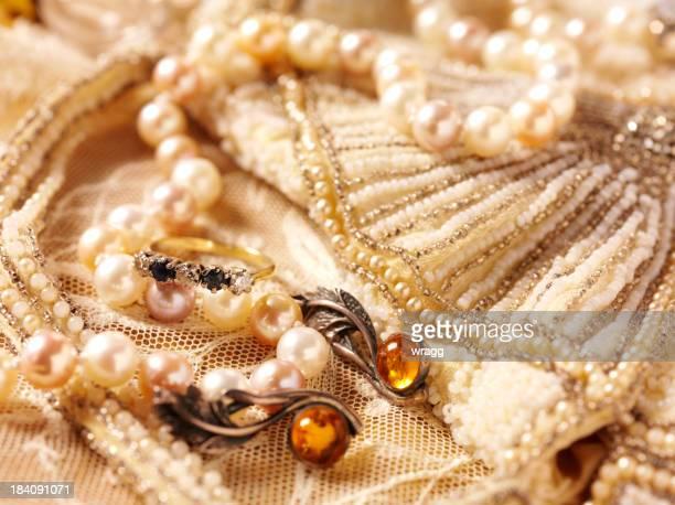 De perles et de bijoux Vintage, sac