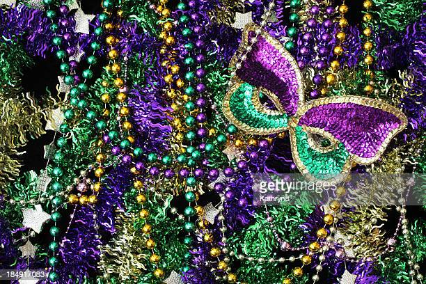 beads and mask background - bead stock pictures, royalty-free photos & images