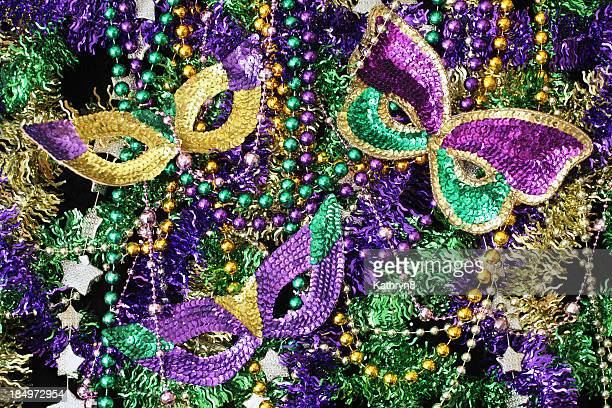 Beads and Mask Background
