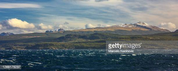 beagle channel in ushuaia, tierra del fuego, argentina - marcelo nacinovic stock pictures, royalty-free photos & images