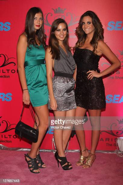 Beaka Kola Carol Palma and Ana Claudia Cabrera attend the 'Paris Hilton The Shoe Collection' cocktail party at Bosque Alto on March 29 2011 in Mexico...