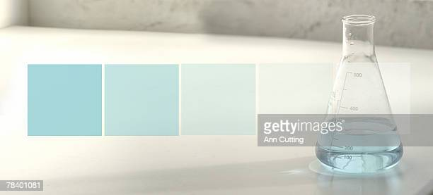 beaker with fluid - ph value stock photos and pictures