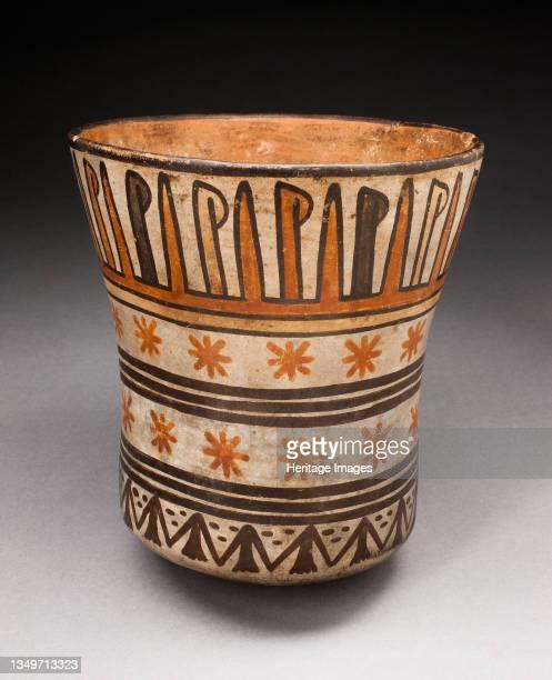 Beaker with Horizontal Bands of Geometric Motifs, 180 B.C./A.D. 500. Artist Unknown.