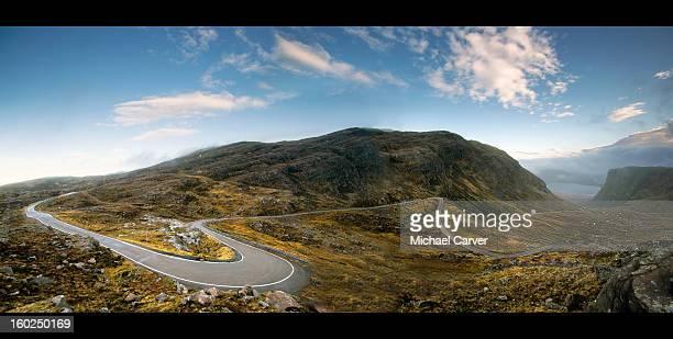 bealach na bà - applecross peninsula - hairpin curve stock photos and pictures