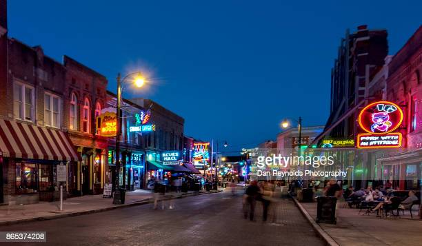 Beale Street at twilight