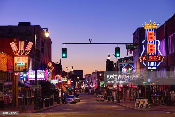 beale street  memphis - tennessee stock pictures, royalty-free photos & images
