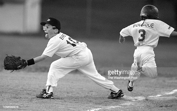 06/20/98 Beallsville MD Beallsville Fire House Description AllStar game Germantown athletic Club American League's Nick Bourque steps on 1st base as...