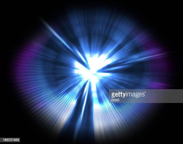Beams of laser & light