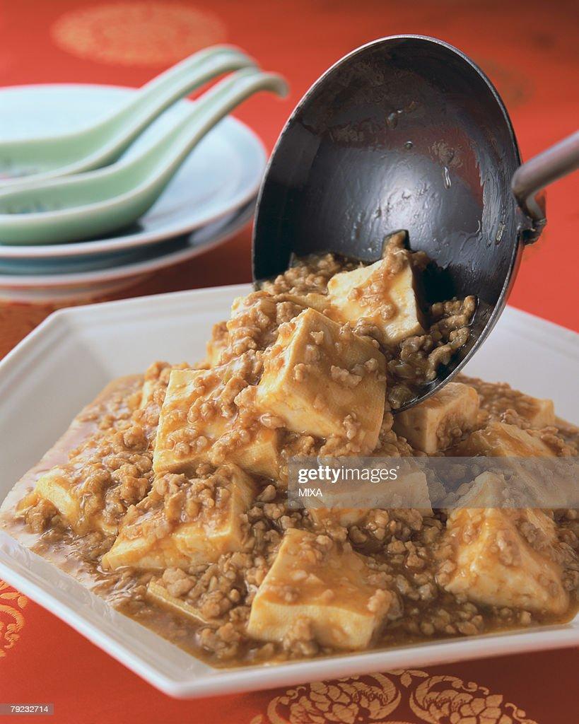 Bean Curd Szechuan Style : Stock Photo