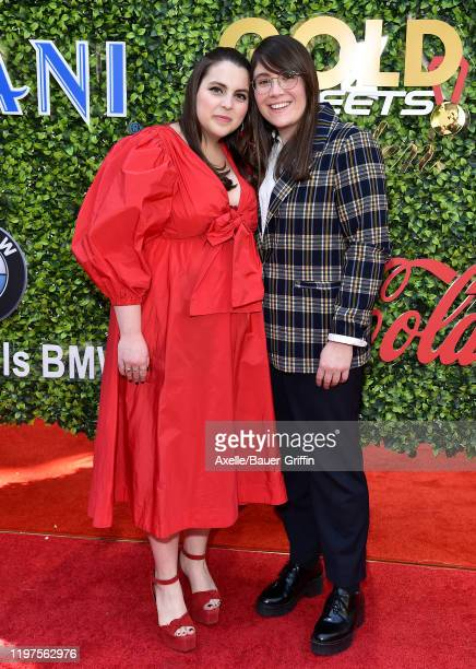 Beanie Feldstein and Bonnie Chance Roberts attend the 7th Annual Gold Meets Golden at Virginia Robinson Gardens and Estate on January 04, 2020 in Los...