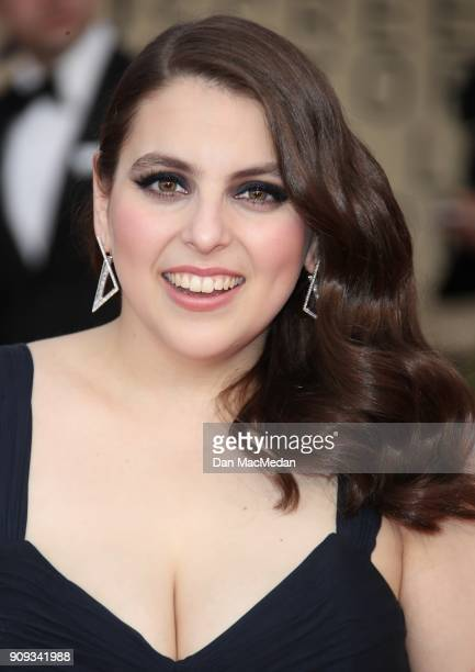 Beanie Feldstein arrives at the 24th Annual Screen Actors Guild Awards at The Shrine Auditorium on January 21 2018 in Los Angeles California