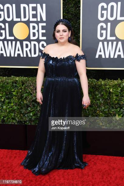 Beanie Feldstein attends the 77th Annual Golden Globe Awards at The Beverly Hilton Hotel on January 05 2020 in Beverly Hills California