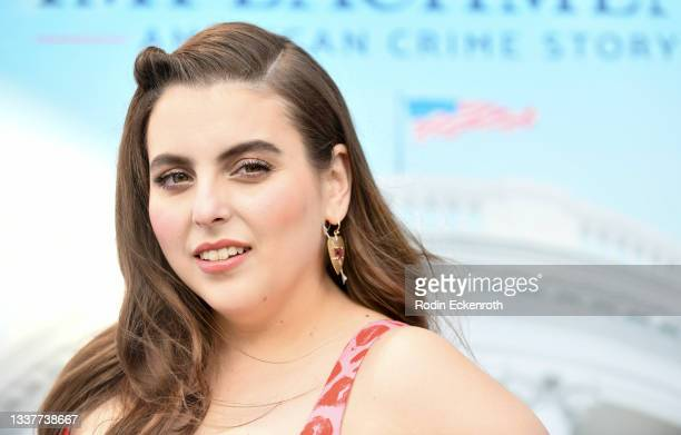 """Beanie Feldstein attends the premiere of FX's """"Impeachment: American Crime Story"""" at Pacific Design Center on September 01, 2021 in West Hollywood,..."""