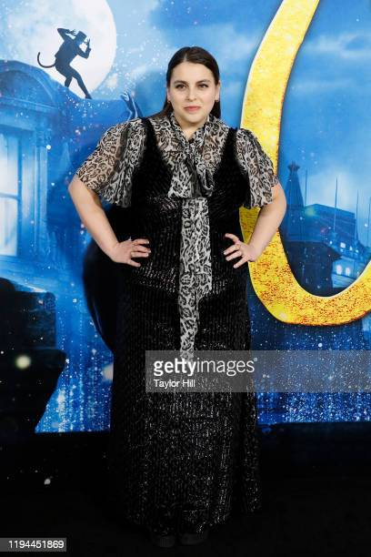 """Beanie Feldstein attends the world premiere of """"Cats"""" at Alice Tully Hall, Lincoln Center on December 16, 2019 in New York City."""