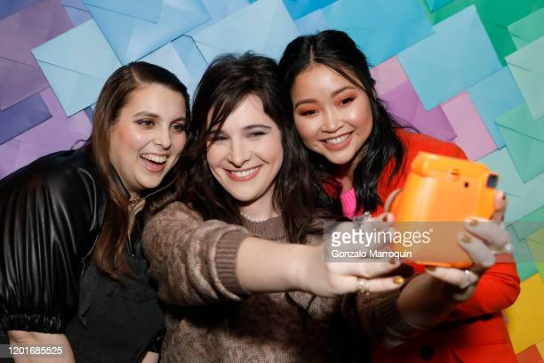 Beanie Feldstein, Hari Nef and Lana Condor attend as Aerie celebrates an Evening Of Change with with the #AerieREAL Role Models at The Blond on...