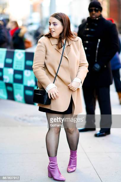 Beanie Feldstein is seen in NoHo on December 7 2017 in New York City