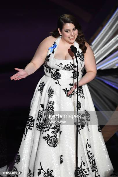 Beanie Feldstein speaks onstage during the 92nd Annual Academy Awards at Dolby Theatre on February 09, 2020 in Hollywood, California.
