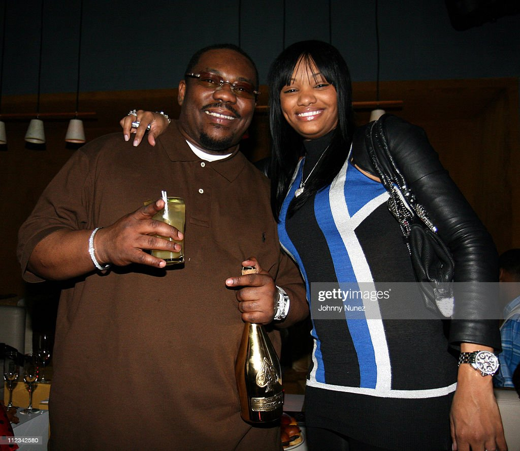 Beanie Sigel and his wife during Beanie Sigel's Birthday Party - March 6, 2007 at 40-40 Club in New York City, New York, United States.