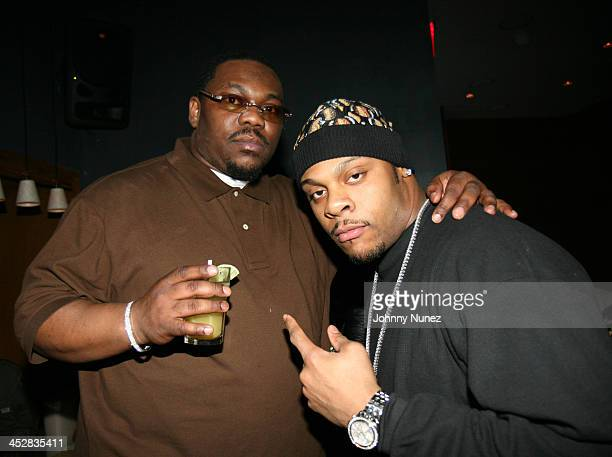 Beanie Sigel and Visanthe Shiancoe during Beanie Sigel's Birthday Party March 6 2007 at 4040 Club in New York City New York United States