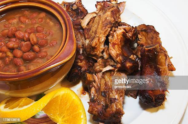 beans and ribs - south stock pictures, royalty-free photos & images