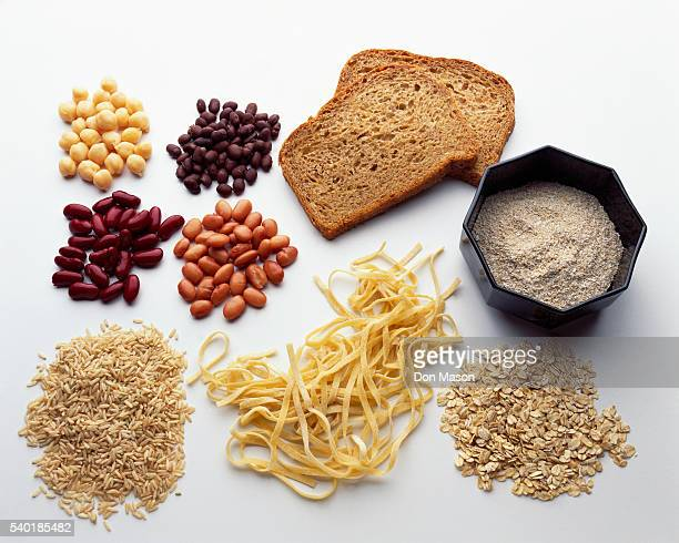 Beans and Various High Carbohydrate Foods