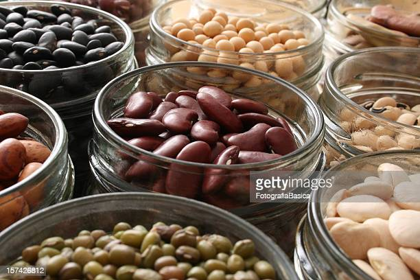 beans in jars - bean stock pictures, royalty-free photos & images