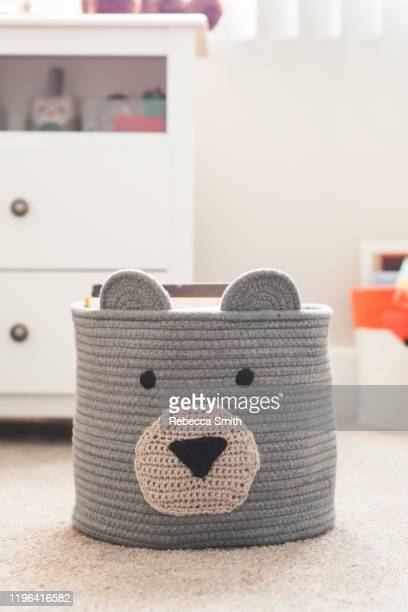 bear basket - dolly fox stock pictures, royalty-free photos & images
