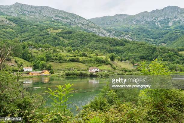 bear cycling route in asturias - asturien stock-fotos und bilder