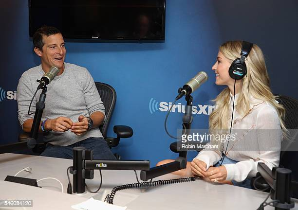 Bear Grylls and Julianne Hough visits at SiriusXM Studio on July 11 2016 in New York City
