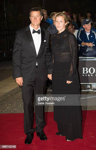 Bear Grylls and Shara Grylls arrives for GQ Men Of The Year Awards 2016 at Tate Modern on September 6 2016 in London England