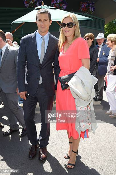 Bear Grylls and Shara Grylls attend day nine of the Wimbledon Tennis Championships at Wimbledon on July 06 2016 in London England
