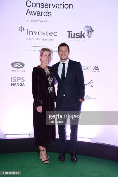 Bear Grylls and Shara Grylls attend the Tusk Conservation Awards ceremony at Empire Cineworld on November 21 2019 in London England