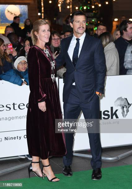 Bear Grylls and Shara Grylls attend the Tusk Conservation Awards at The Empire Cinema on November 21 2019 in London England