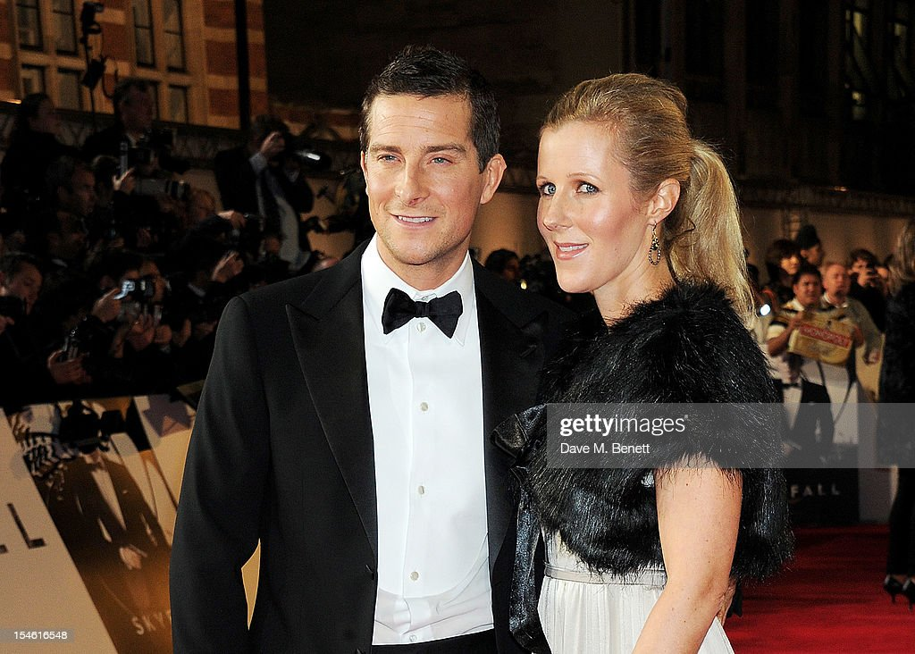 Bear Grylls (L) and wife Shara Grylls attend the Royal World Premiere of 'Skyfall' at the Royal Albert Hall on October 23, 2012 in London, England.
