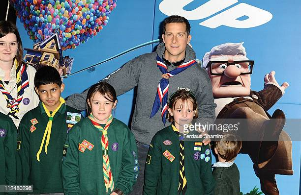 Bear Grylls attends the UK Premiere of 'Up' on October 4 2009 in London England