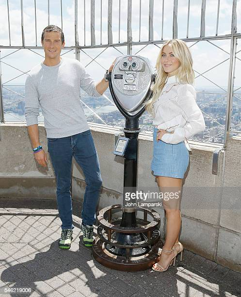 Bear Grylls Julianne Hough visit The Empire State Building on July 11 2016 in New York City