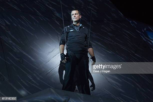 Bear Grylls performs at the Bear Grylls Endeavour at SSE Arena Wembley on October 7 2016 in London England