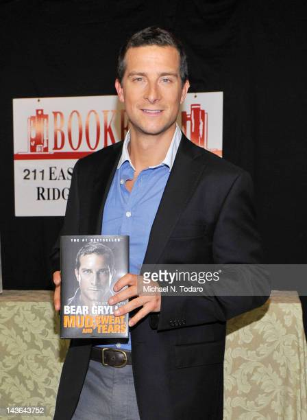 Bear Grylls promotes Mud Sweat Tears at Bookends Bookstore on May 1 2012 in Ridgewood New Jersey