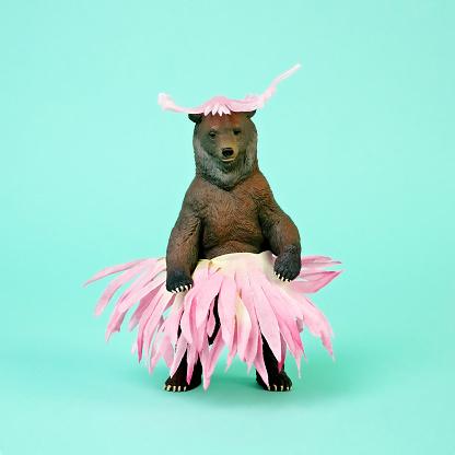 Bear in Flower Skirt - gettyimageskorea