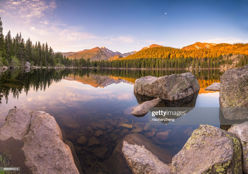 Bear Lake in Rocky Mountain National Park : Stock Photo