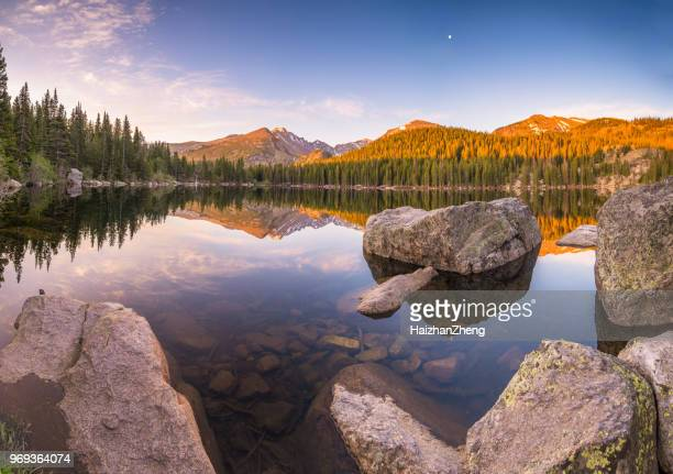 bear lake in rocky mountain national park - colorado stock pictures, royalty-free photos & images