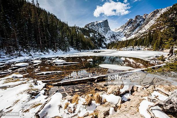 Bear Lake in winter, Rocky Mountain National Park, Colorado, United States of America, North America