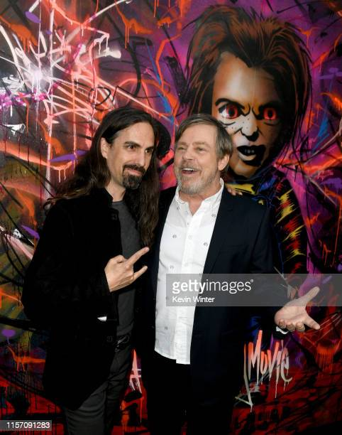 Bear McCreary and Mark Hamill arrive at the premiere of Orion Pictures and United Artists Releasing Child's Play at ArcLight Hollywood on June 19...