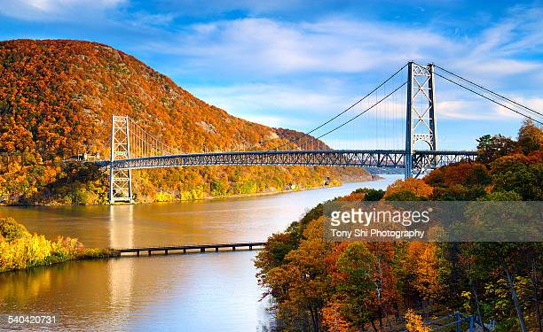 bear mountain bridge closeup - bear mountain bridge stock pictures, royalty-free photos & images