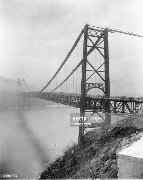 Bear Mountain Bridge in New York circa 1925