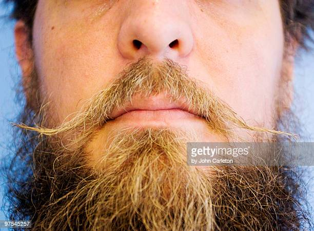 Beard and mustache closeup
