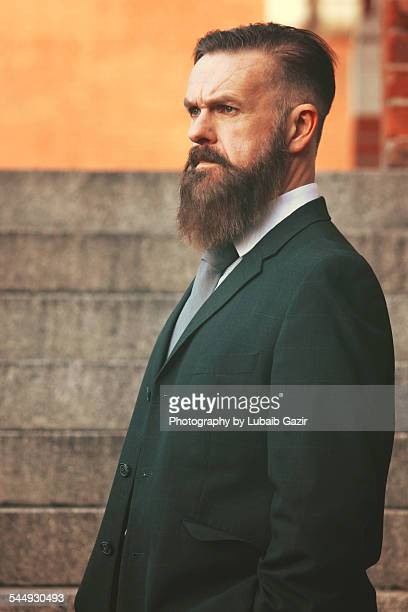 Bearded businessman